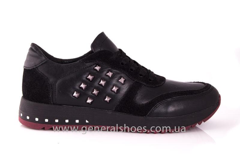 Кроссовки женские кожаные 0132 черный фото 2