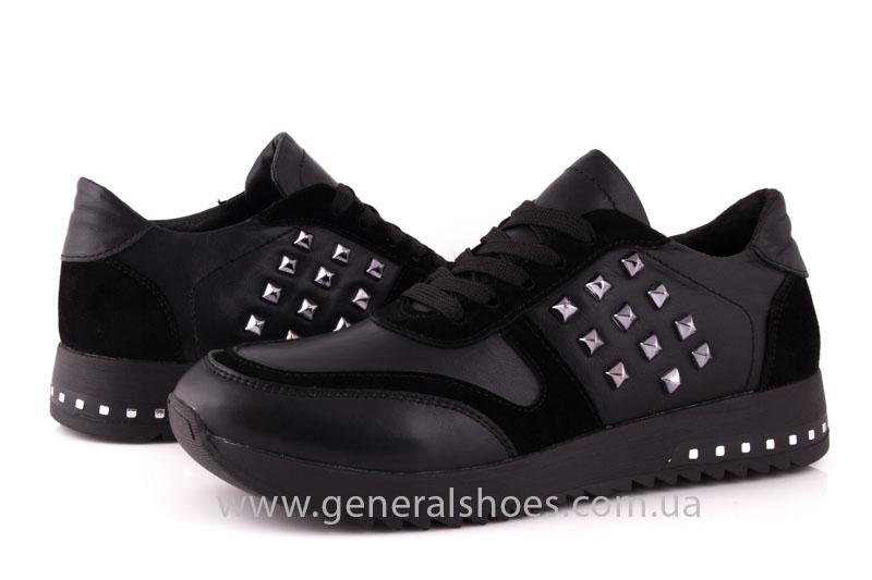 Кроссовки женские кожаные 0140 черный фото 9