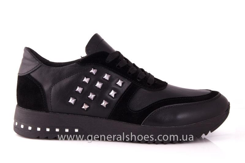 Кроссовки женские кожаные 0140 черный фото 2