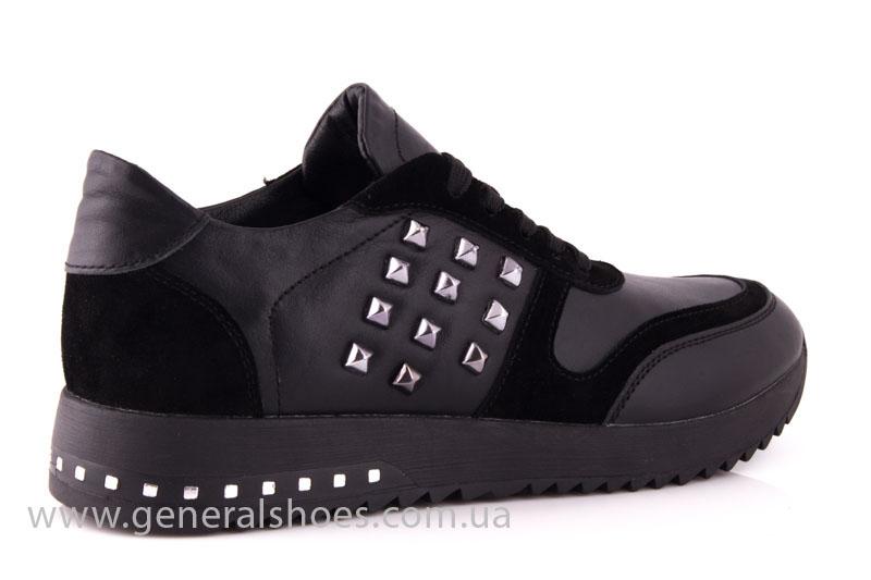 Кроссовки женские кожаные 0140 черный фото 3