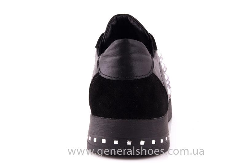 Кроссовки женские кожаные 0140 черный фото 4