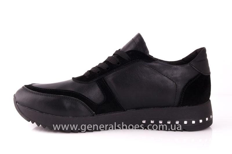 Кроссовки женские кожаные 0140 черный фото 5