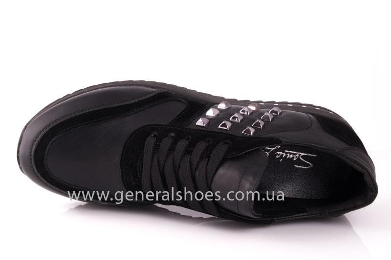 Кроссовки женские кожаные 0140 черный фото 6