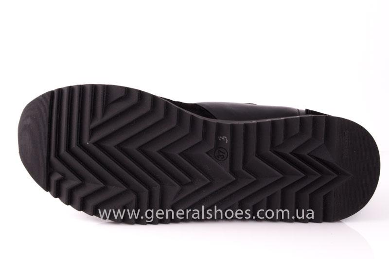 Кроссовки женские кожаные 0140 черный фото 10