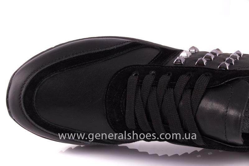 Кроссовки женские кожаные 0140 черный фото 7