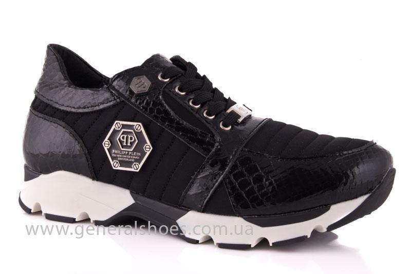 Кроссовки женские кожаные 0335 черный рептилия фото 1
