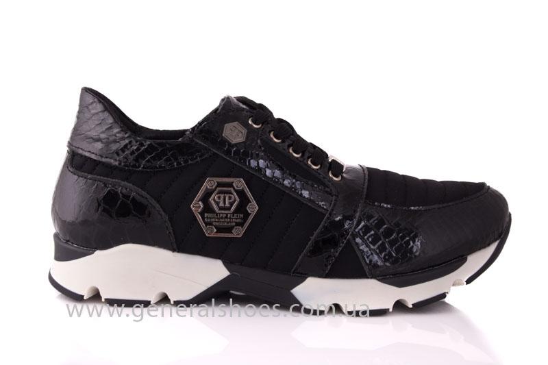 Кроссовки женские кожаные 0335 черный рептилия фото 2
