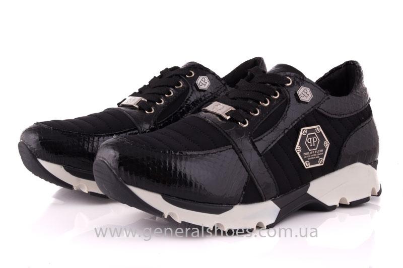 Кроссовки женские кожаные 0335 черный рептилия фото 8