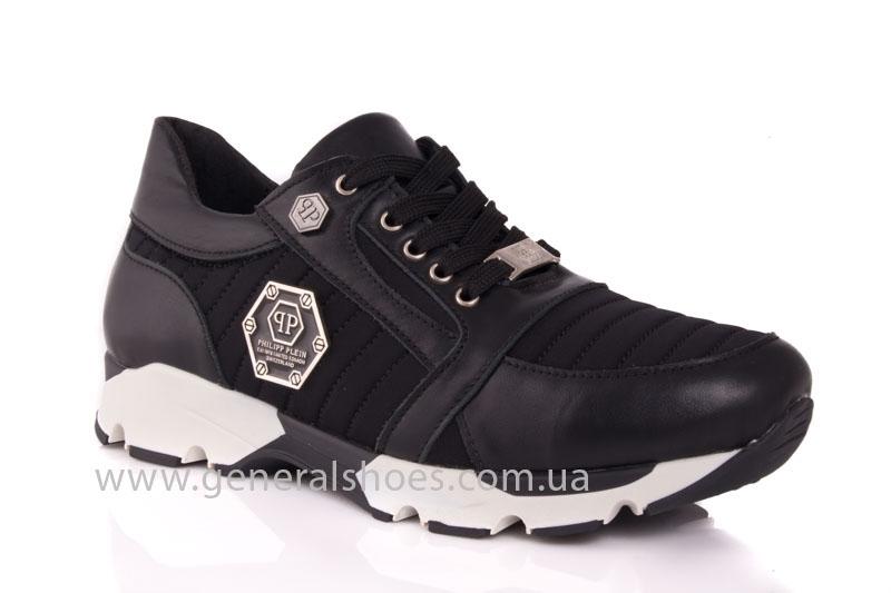 Кроссовки женские кожаные 0340 черный фото 1