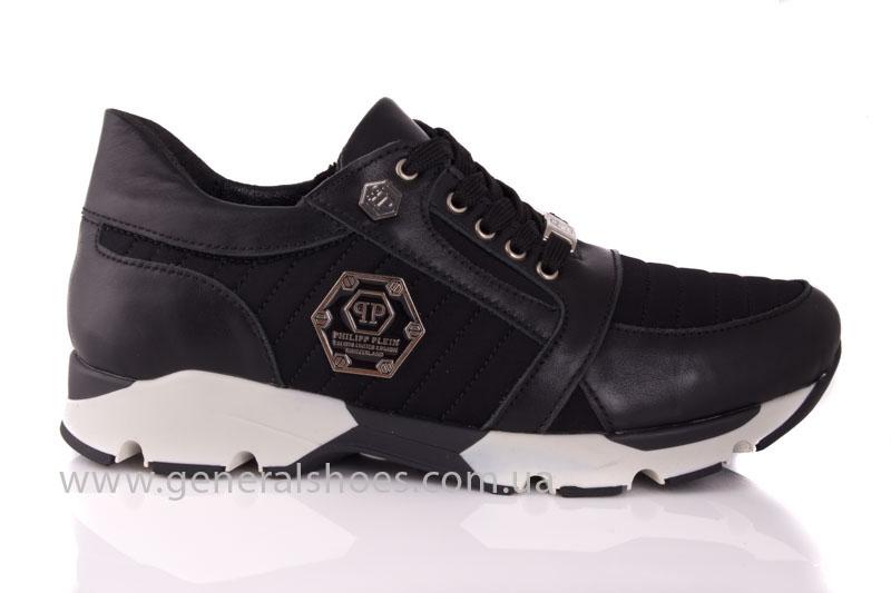 Кроссовки женские кожаные 0340 черный фото 2
