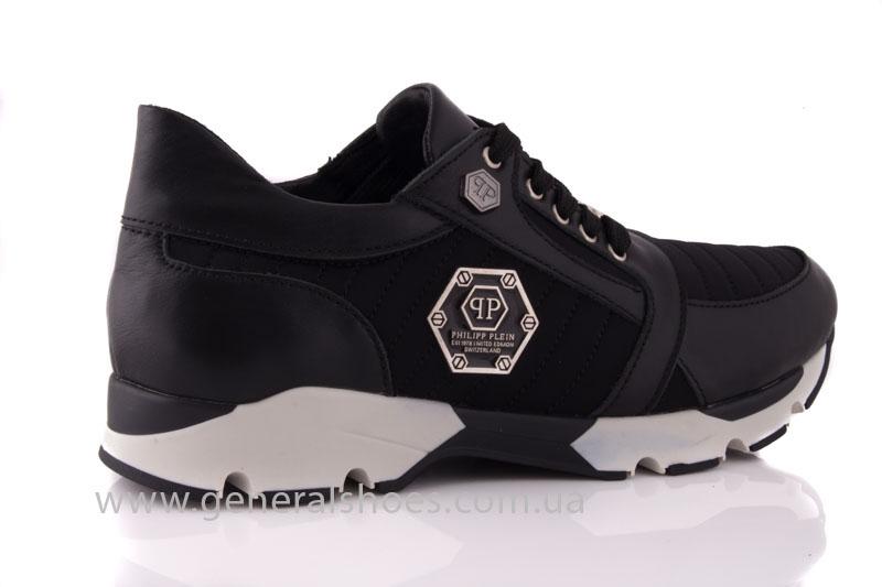 Кроссовки женские кожаные 0340 черный фото 3