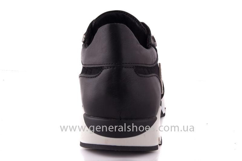 Кроссовки женские кожаные 0340 черный фото 4