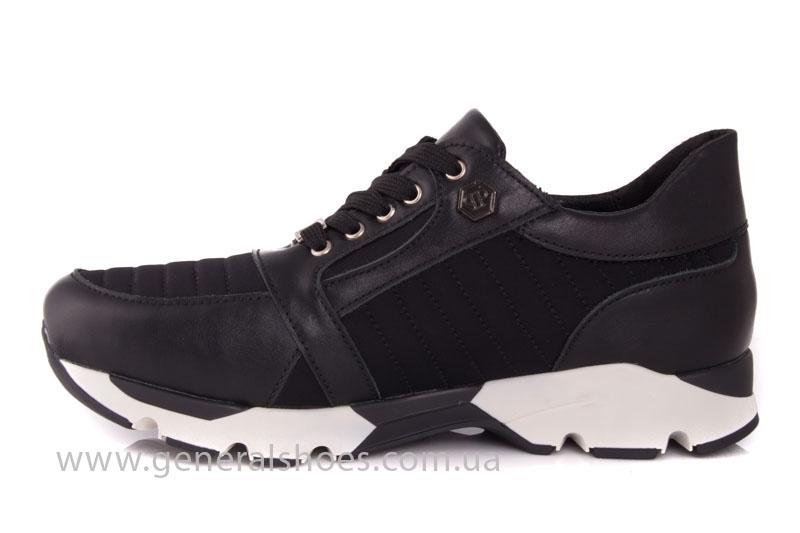 Кроссовки женские кожаные 0340 черный фото 5
