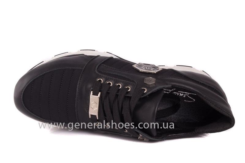 Кроссовки женские кожаные 0340 черный фото 6