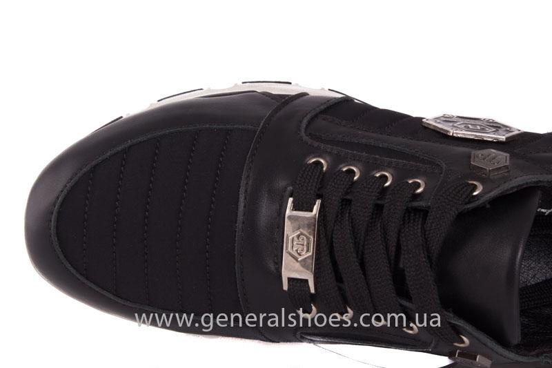 Кроссовки женские кожаные 0340 черный фото 7