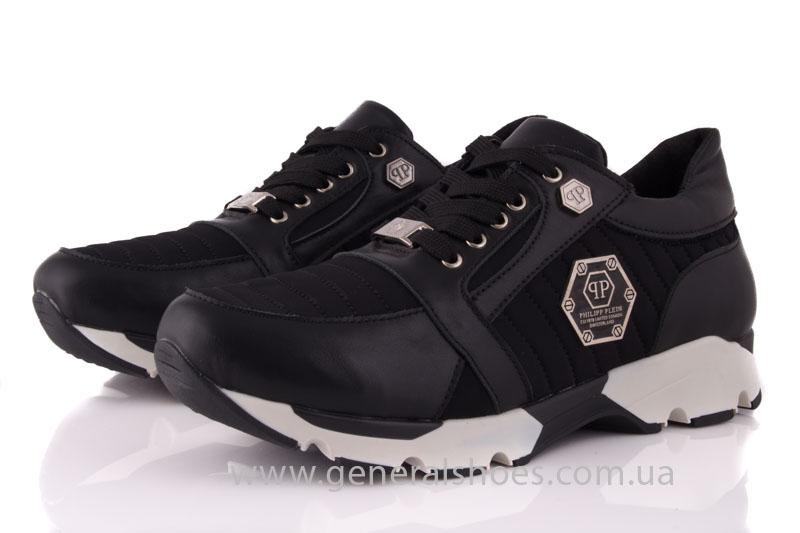 Кроссовки женские кожаные 0340 черный фото 8