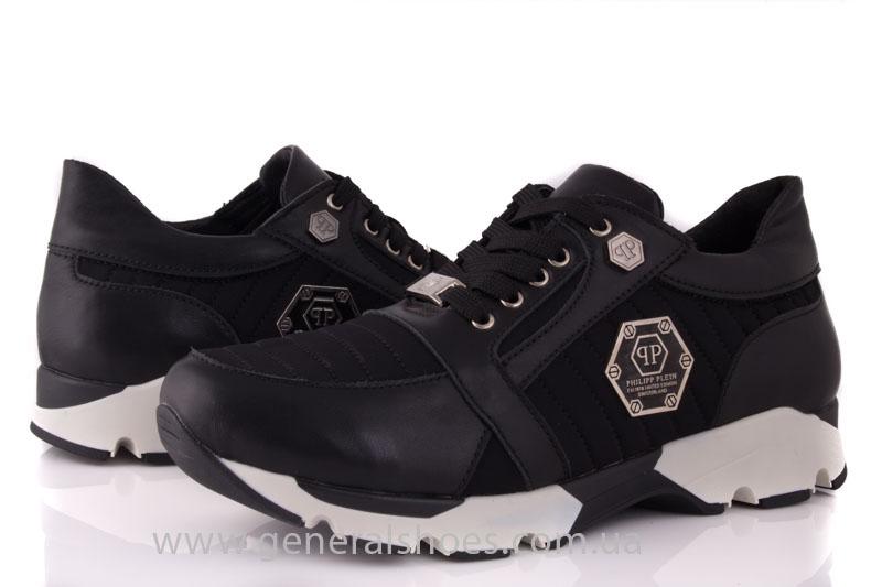 Кроссовки женские кожаные 0340 черный фото 9