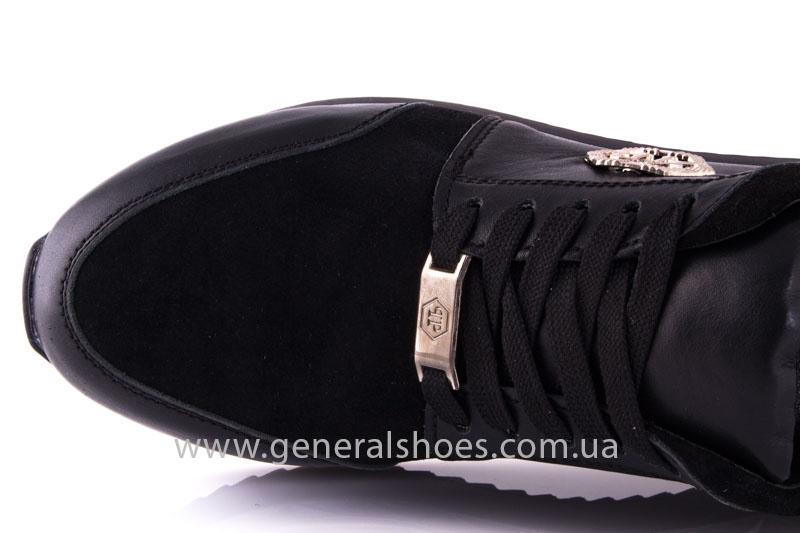 Кроссовки женские кожаные 1601 черный фото 6
