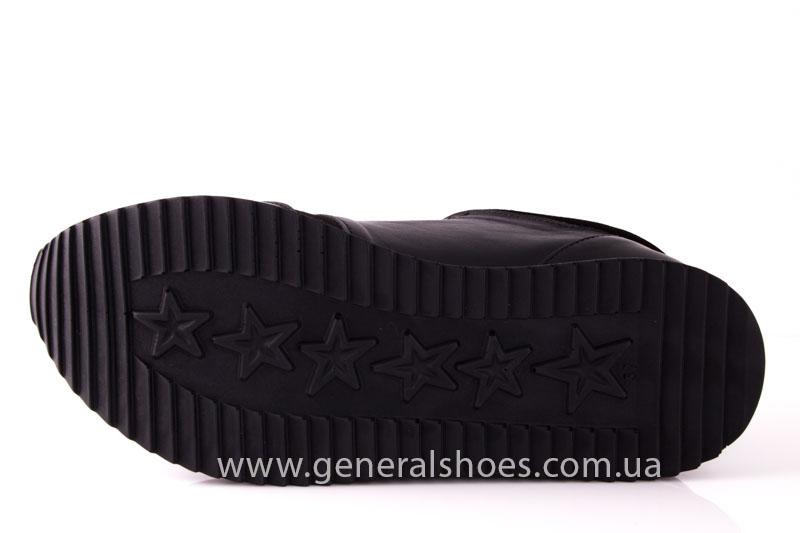 Кроссовки женские кожаные 1601 черный фото 9