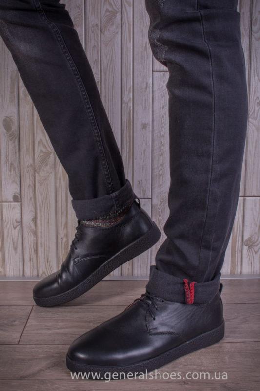 Мужские кожаные туфли Koss черные
