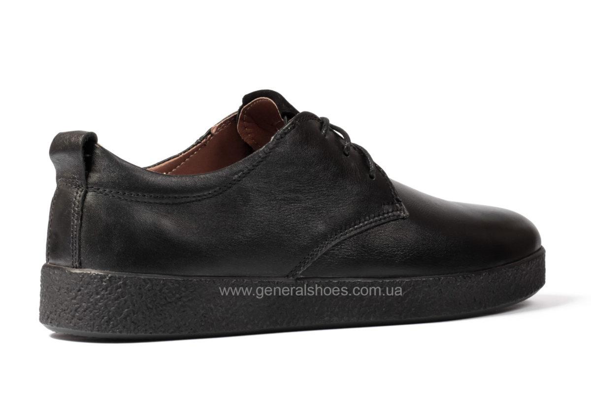 Туфли мужские кожаные Ed Ge Koss черные фото 2