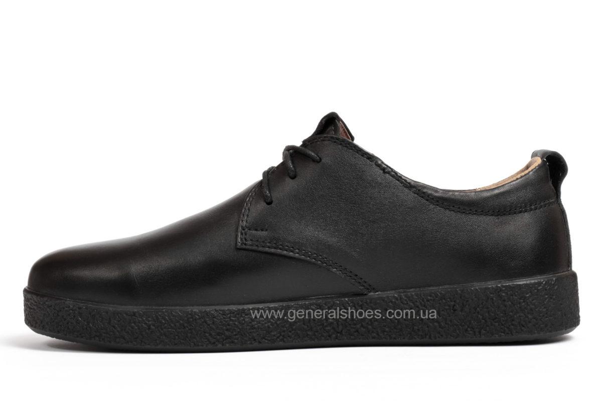 Туфли мужские кожаные Ed Ge Koss черные фото 3