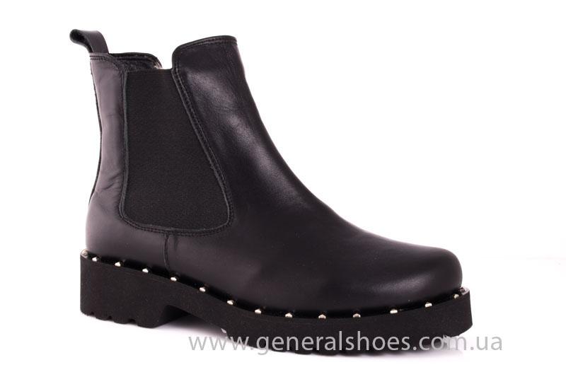 Зимние женские ботинки 1020 черный фото 1