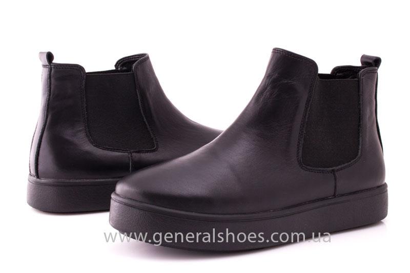 Женские ботинки кожаные 1018 черный фото 7