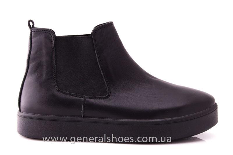 Женские ботинки кожаные 1018 черный фото 2