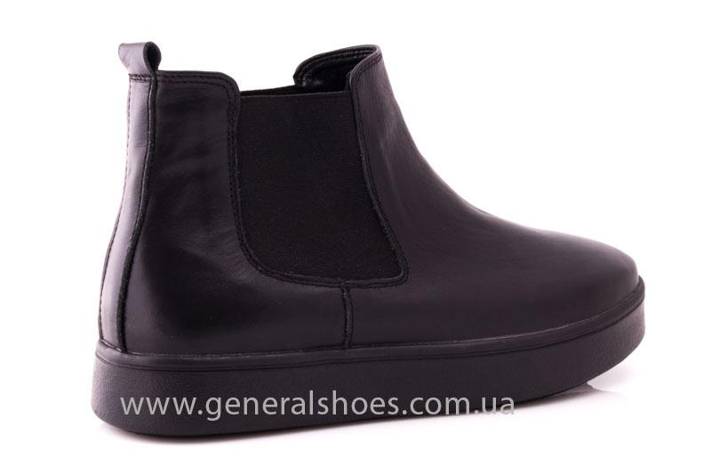 Женские ботинки кожаные 1018 черный фото 3