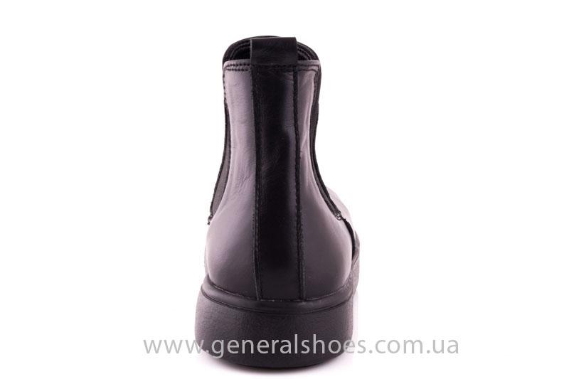 Женские ботинки кожаные 1018 черный фото 4