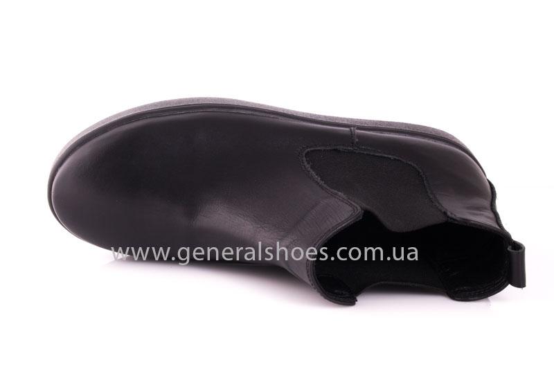 Женские ботинки кожаные 1018 черный фото 5