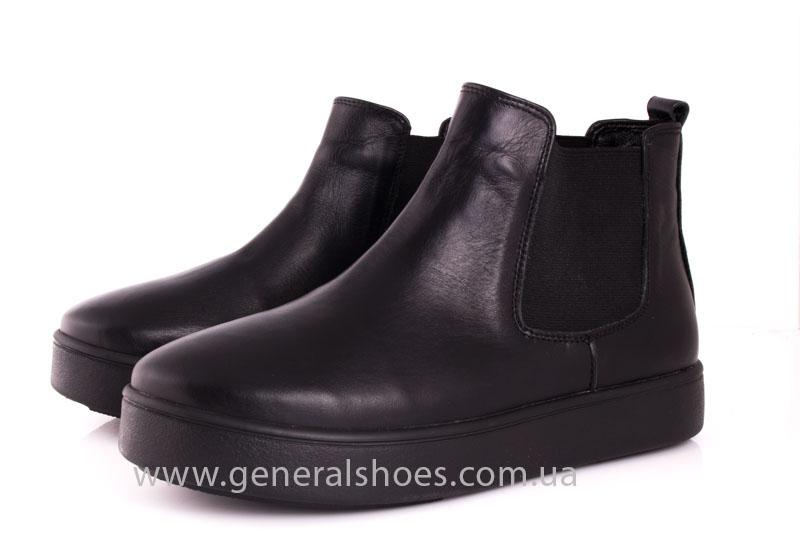 Женские ботинки кожаные 1018 черный фото 6