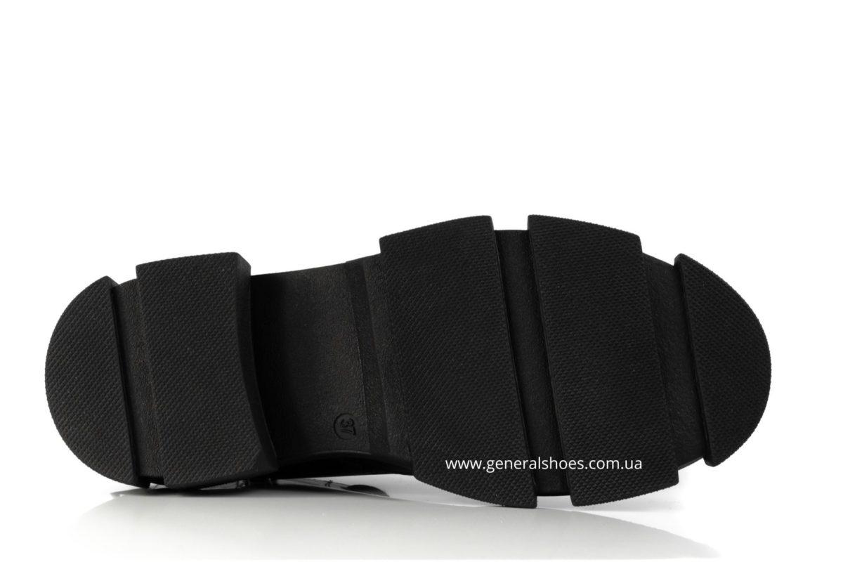 Женские ботинки кожаные 2021 черный фото 4