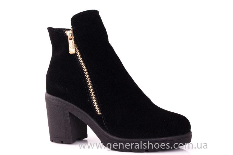 Женские ботинки замшевые 1015 черный фото 1