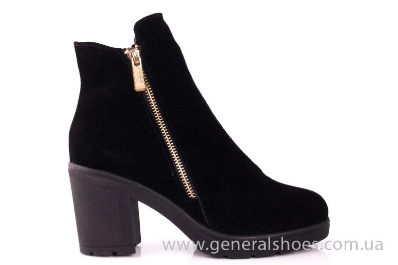 Женские ботинки замшевые 1015 черный фото 2