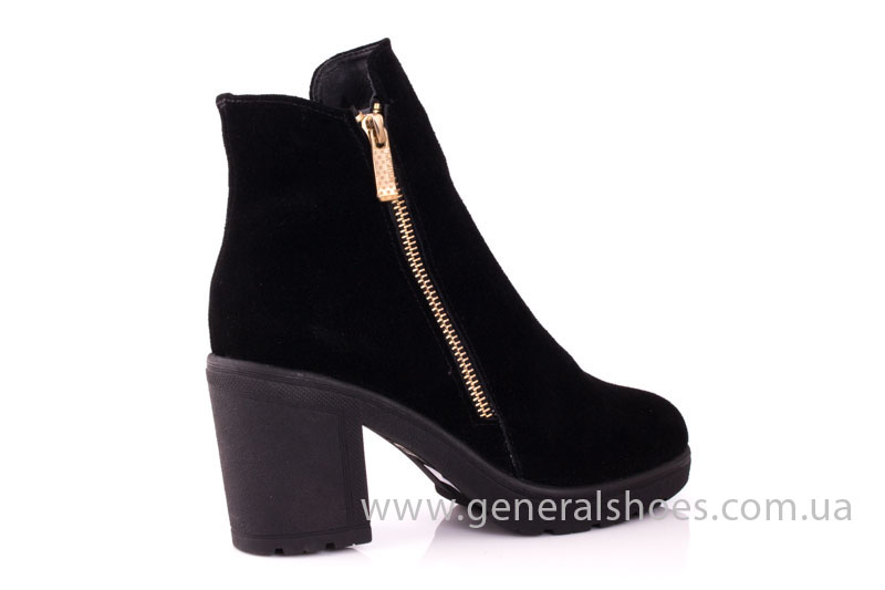 Женские ботинки замшевые 1015 черный фото 3