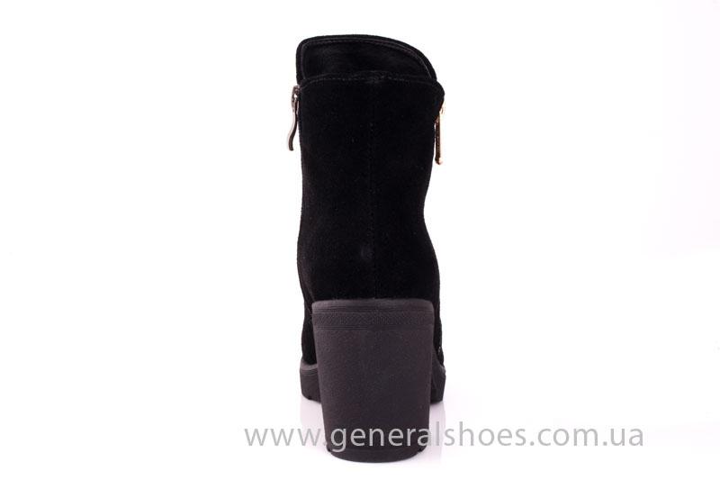 Женские ботинки замшевые 1015 черный фото 4