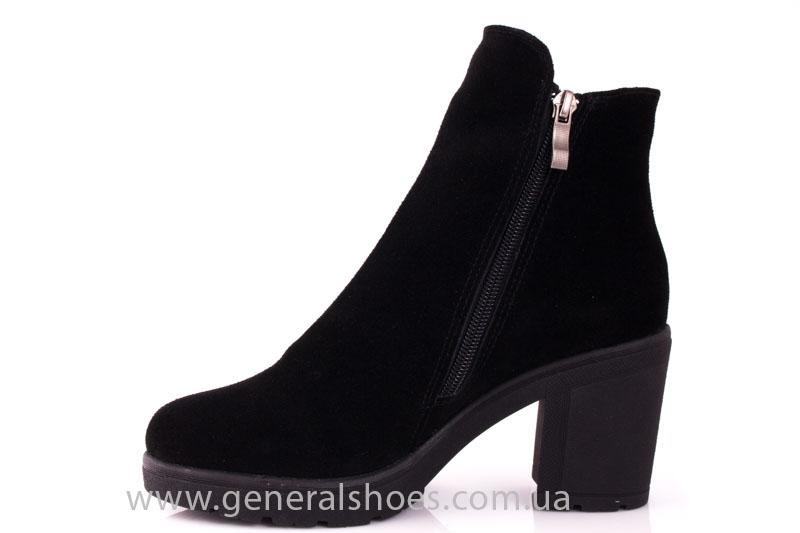Женские ботинки замшевые 1015 черный фото 5