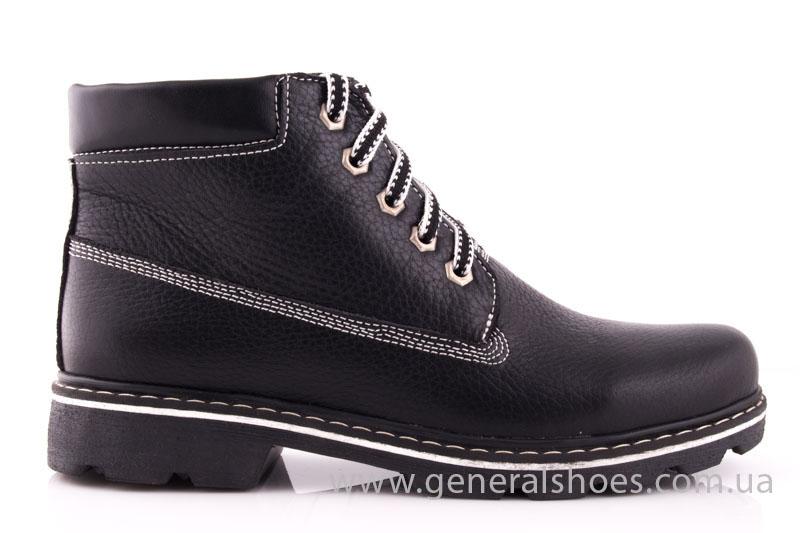 Женские кожаные ботинки GL 1 черный байка фото 2
