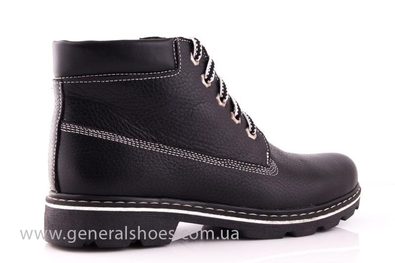 Женские кожаные ботинки GL 1 черный байка фото 3