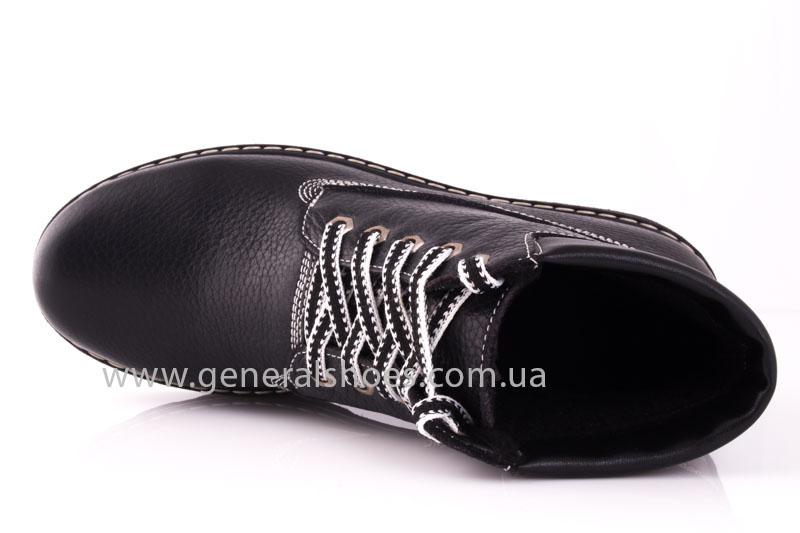 Женские кожаные ботинки GL 1 черный байка фото 5