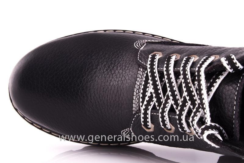 Женские кожаные ботинки GL 1 черный байка фото 6