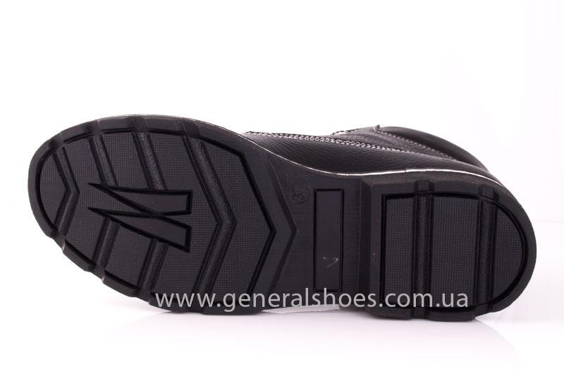 Женские кожаные ботинки GL 1 черный байка фото 9
