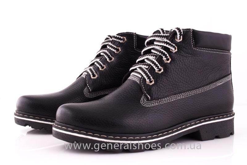 Женские кожаные ботинки GL 1 черный байка фото 7