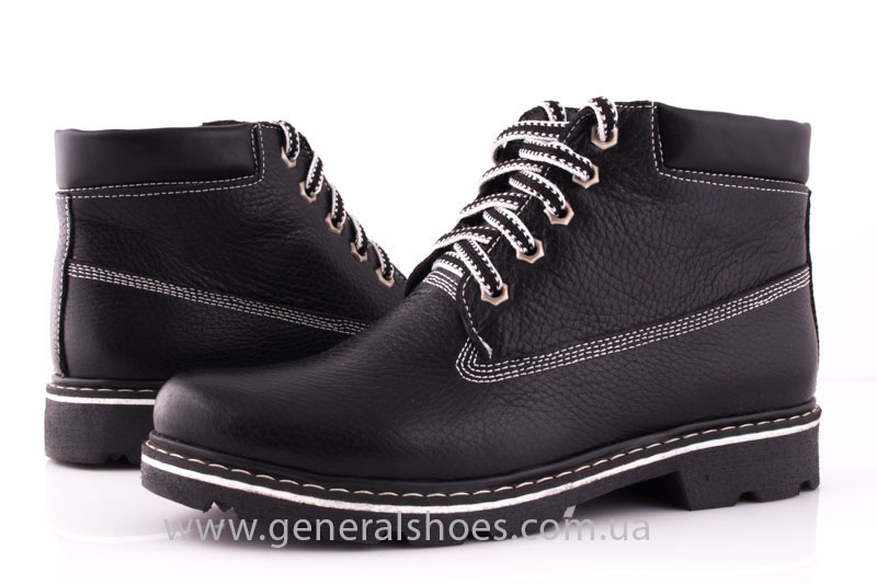 Женские кожаные ботинки GL 1 черный байка фото 8