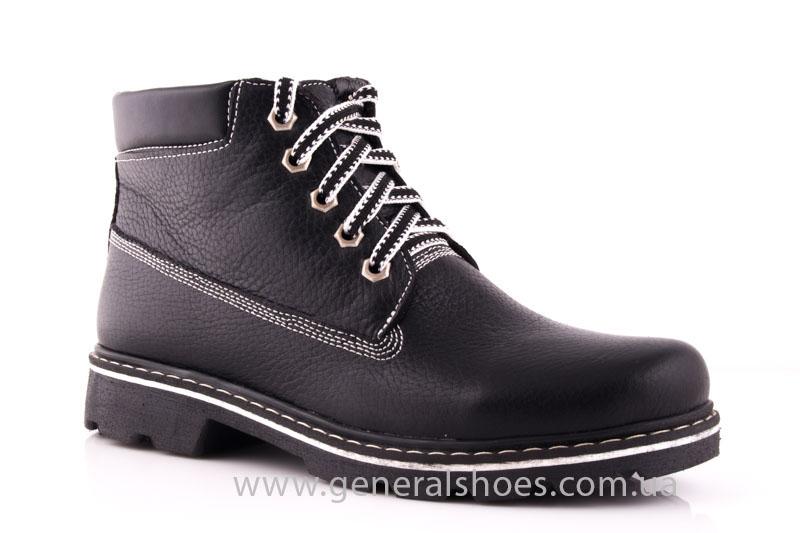 Женские кожаные ботинки GL 1 черный байка фото 1