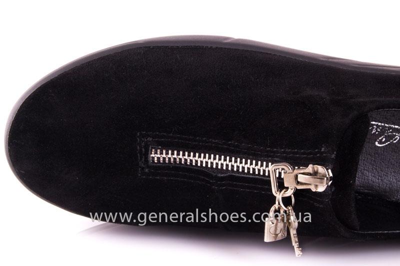 Женские слипоны замша 0535 черный фото 7