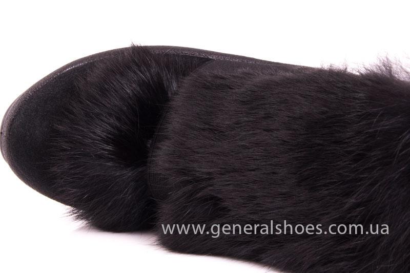 Женские сникерсы черные D 1521 замша фото 8