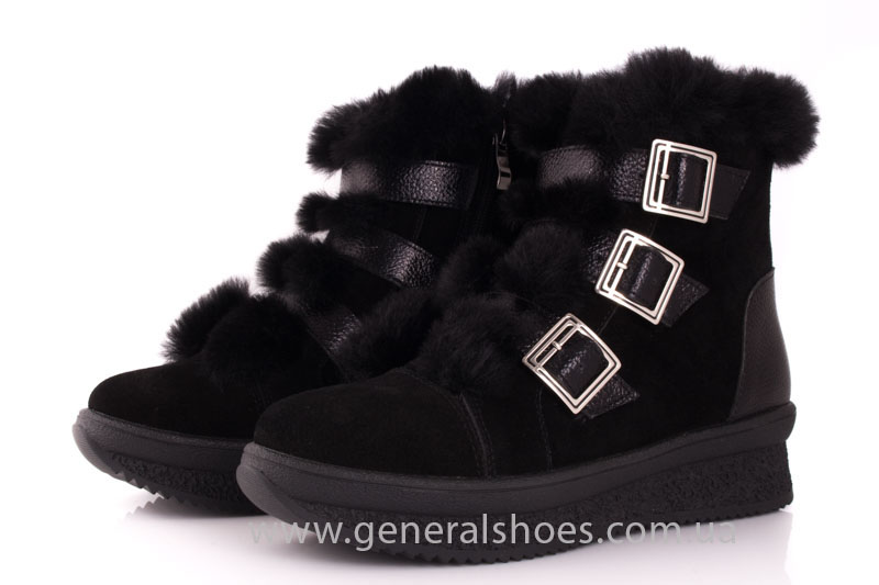 Зимние ботинки женские D 15 221 черный фото 7
